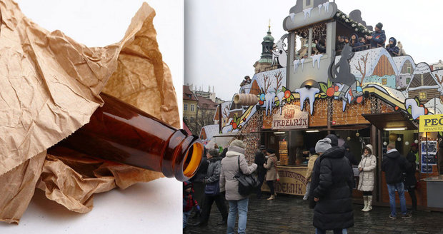 Lidé v centru si už možná nedají pivo ani při vánočních trzích. (ilustrační foto)