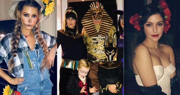 České celebrity si užily Halloween naplno.