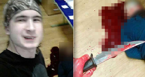 Student (†18) podřezal učitele a s mrtvolou si vyfotil selfie. Sám se pak zabil cirkulárkou