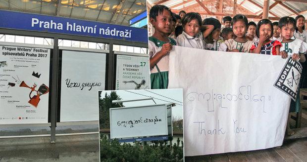 Kauza tajemných nápisů v Česku: Odhalili, kde se vzaly arabské či ruské billboardy