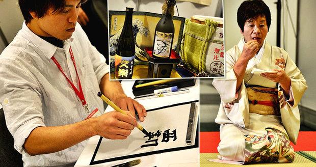 Ochutnávky saké i učení kaligrafie: Japonská kultura dorazila na Vyšehrad