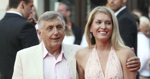 Jiří Menzel s manželkou Olgou.