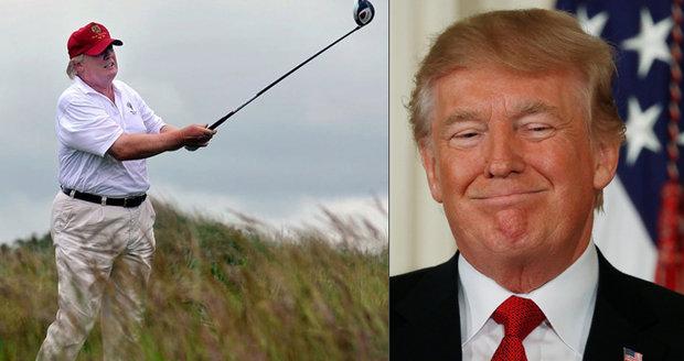 Dlouhé dny v práci? Trump si pořídil do Bílého domu golfový simulátor za milion