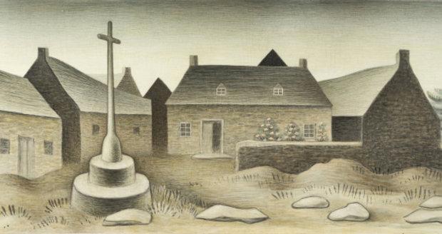 """Obraz Jana Zrzavého """"Kalvárie v Locronanu II."""""""