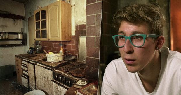 Špína, pavučiny a hromada krámů: Michal (19) žije v domě hrůzy sám! Otec zemřel, matka ho chtěla po narození prodat
