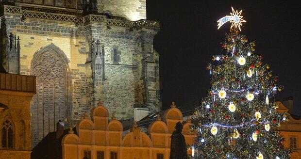 Takto vypadá nový vánoční strom na Staroměstském náměstí.