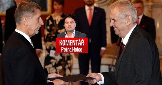 """Komentář: Premiér Babiš chce makat každý den. """"Bože, Bože,"""" ulevil si Zeman"""