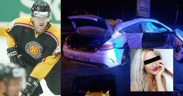 Tragická smrt krásné Jany (†28): Hokejista Kunce řídil mercedes totálně opilý