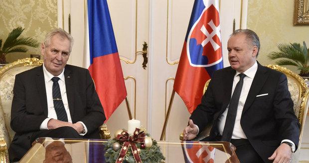 Zeman se Babišem chlubil Kiskovi: Jmenoval jsem Slováka premiérem