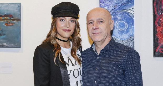 Kateřina Sokolová s tatínkem