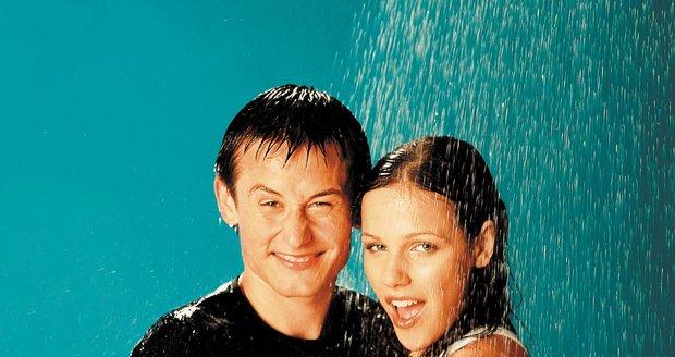 Radka Kocurová Rosická s manželem Tomášem Rosickým