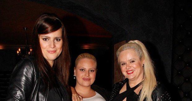 Monika Štiková se svými dcerami Ornellou Koktovou a Charlotte Štikovou