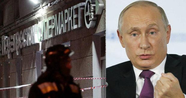 Výbuch v Petrohradu byl terorismus, říká Putin. Útočník ohrozil stovky lidí