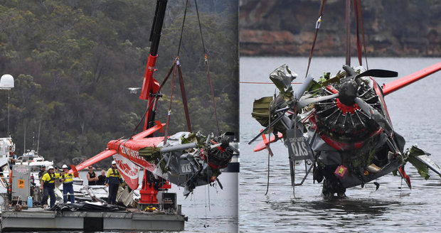 Vyšetřování smrti milionáře se snoubenkou a dětmi: Trosky letadla vyzvedávají z řeky