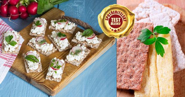 Blesk testoval rýžové a kukuřičné chlebíčky i knäckebroty.