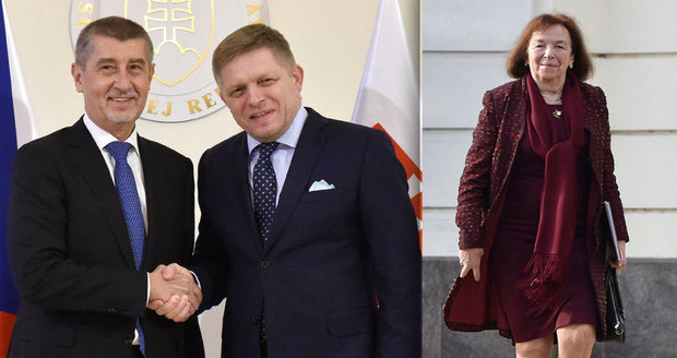 """Babiš vyrazil na Slovensko. """"Vítej doma,"""" říkal mu Fico. Euro Češi dál nechtějí"""