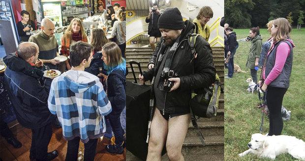 Užijte si víkend v Praze bez kalhot, s vegany i se psy.