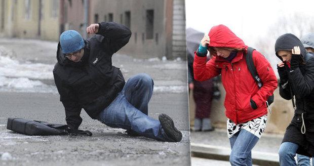V Čechách silný vítr, na Moravě náledí: Meteorologové varují před zhoršeným počasím