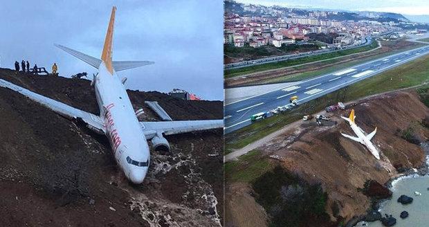 Letadlo kvůli ledovce málem skončilo v moři! Zůstalo nebezpečně viset na srázu