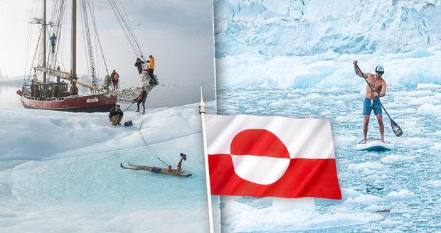 Netradiční zážitek: Zaplavte si mezi krami! Než grónské ledovce roztají