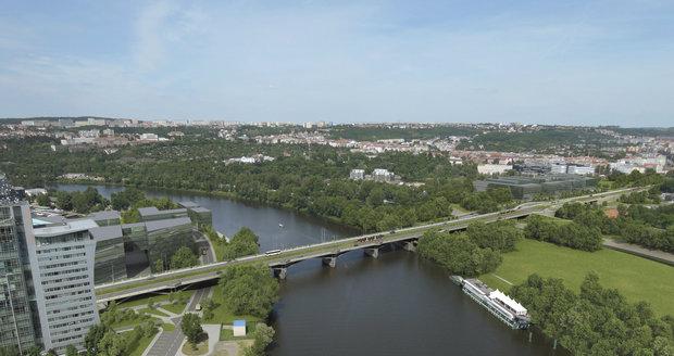 Vizualizace rekonstrukce Libeňského mostu v Praze