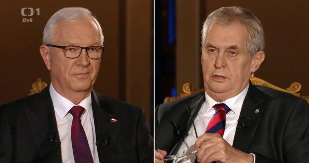 """Zeman s Drahošem si rozdali poslední """"údery"""". Co slíbili lidem?"""