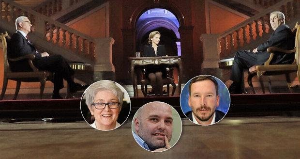 Poslední debata před volbami: Kdo je vítěz? Zeman se chtěl zalíbit, Drahoš až moc zvítězit