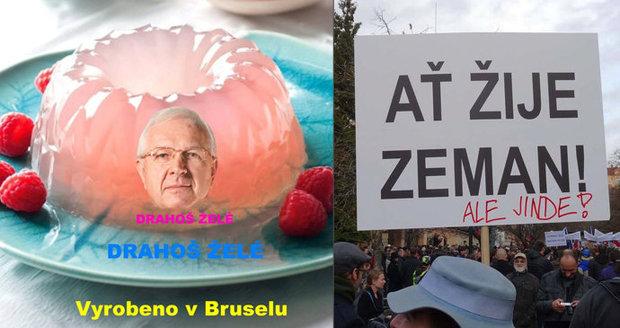 Želé Drahoš, senilní Zeman a skvělá Witowská: Češi se smějí volbám