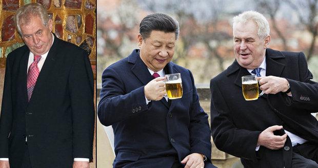 Viróza u klenotů, ku*da nebo vítání Číňanů: Miloš Zeman s jeho góly a fauly