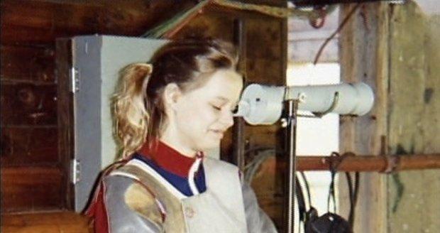 Helena Houdová v patnácti letech