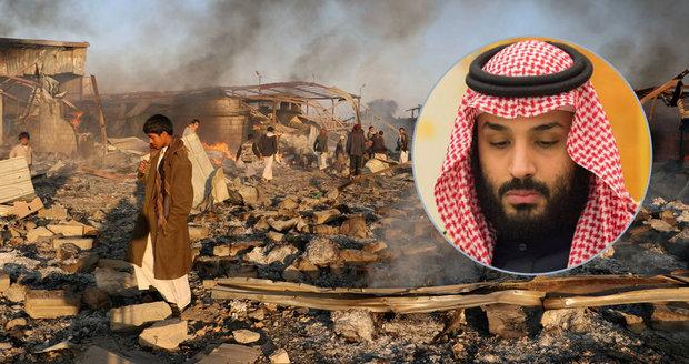 Saúdové páchají v Jemenu zvěrstva, bouří Britové. A zmínili ironii s lidskými právy