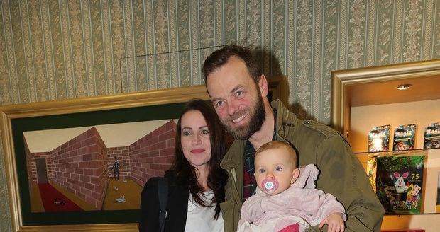 Lukáš Langmajer s rodinou