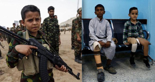 Boj se zbraní, převoz raket i slzy a noční můry. Tisíce dětí jsou ve válce