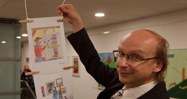 Galerie 14 zahájila 7. února novou výstavu. Její součástí budou i kreslené vtipy Romana Jurkase.