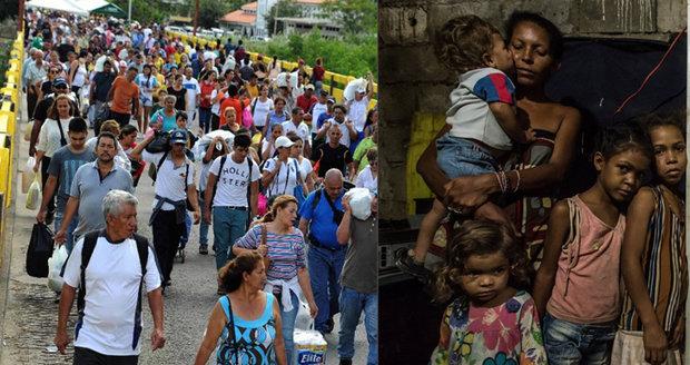 Bývali bohatí, teď žijí jako žebráci: 4 miliony Venezuelanů utekly před hladomorem