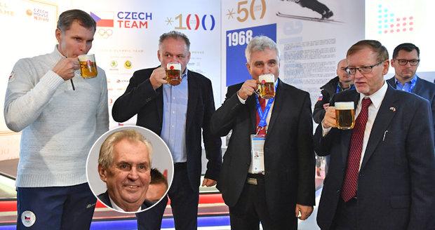 """Zemana nahradil na olympiádě Kiska. Topolánek: """"Ať nás zastupuje v zahraničí on"""""""