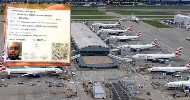 Britové v šoku: Na londýnském letišti zaměstnávali podezřelého z terorismu