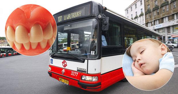 Lidé loni v pražské MHD nechali zubní protézu i spící dítě.