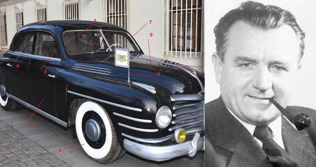 To je kočár dělnického prezidenta: Gottwaldovo auto mělo sedačky vycpané peřím a neprůstřelná skla