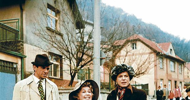 Ve filmu Co je doma, to se počítá, pánové si Stella Májová zahrála tetičku z Ameriky