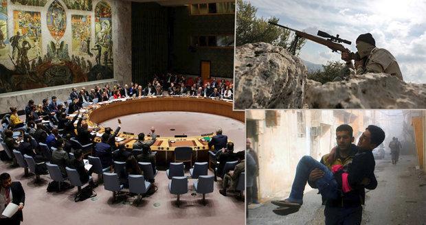 OSN schválilo krátké příměří v Sýrii: Jednání komplikovalo Rusko