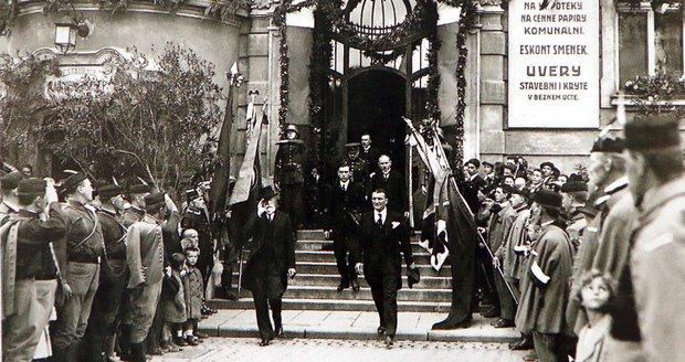 Unikátní fotka z června 1924, kdy TGM přijel do rodného Hodonína.