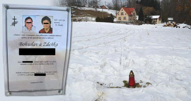 Bohuslav (†67) a Zdeňka (†63) se vraceli z oslavy a umrzli: Muž na schodech domu, žena pár metrů od něj.