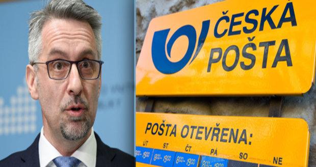 Česko hledá šéfa pošty. Ministr Metnar vyhlásí nové výběrové řízení, svržený Elkán nepřišel