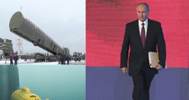 Kraken nebo Balalajka: Putinovy nové zbraně přináší obavy, ale i vtipné narážky