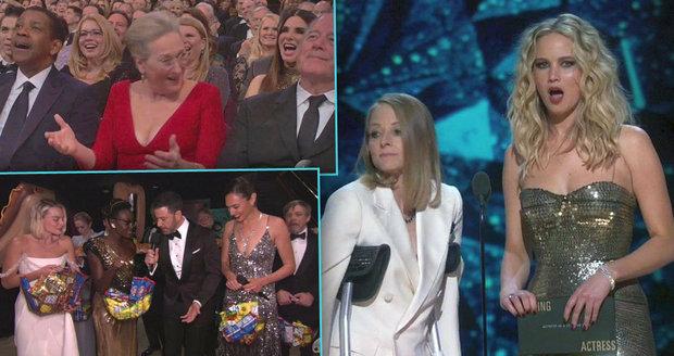 Střípky z letošních Oscarů: Zranění a vtípky na Meryl Streep i návštěva kina v přímém přenosu!