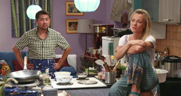 Linda Rybová v seriálu Ohnivý kuře