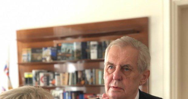 Prezident Miloš Zeman po inauguraci (8. 3. 2018)