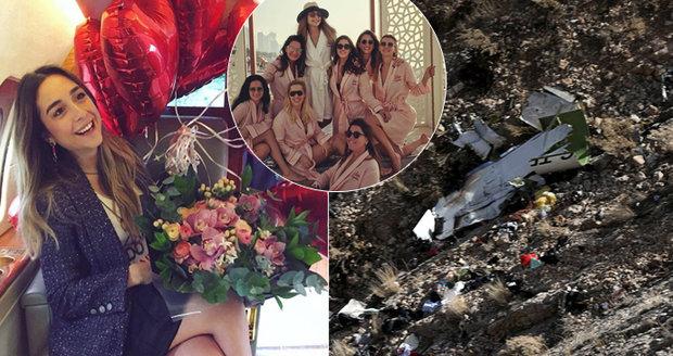 Dědička (†28) zemřela před svatbou: Cestou z rozlučky se s ní zřítilo letadlo