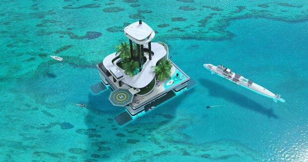Plovoucí ostrov od rakouské společnosti Migaloo